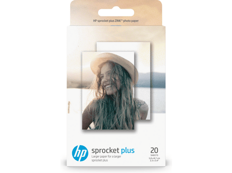 Papel fotográfico adhesivo - HP Sprocket Plus, 20 hojas, 5.8 x 8.7 cm, 2LY72A