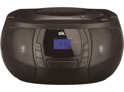 Radio - OK ORC 2061BT-B, Estéreo, Bluetooth, CD, Radio FM, USB/SD/Mp3, Entrada aux, Negro