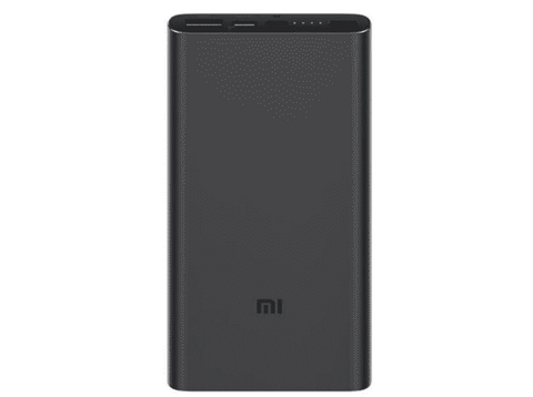 Powerbank - Xiaomi Mi Power Bank 3, Para smartphone o tablet, 10000 mAh, USB-A, USB-C, MicroUSB, Negro