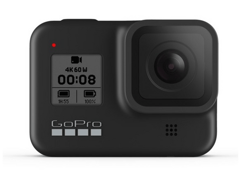 Cámara deportiva - GoPro HERO8 Black, Vídeo 4K60, 12 MP HDR, Slo-Mo 8x, Sumergible 10m, HyperSmooth 2.0, Negro