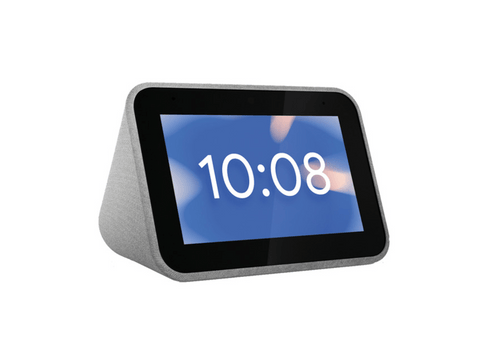Reloj despertador inteligente - Lenovo Smart Clock ZA4R0025SE, 1 GB RAM, 3 W, WiFi, Bluetooth, Gris