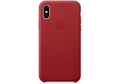 Funda - APPLE Leather Case, MRWP2ZM/A, para el iPhone XS, Piel, Rojo PRODUCT(RED)