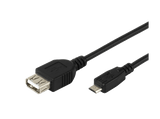 Cable - VIVANCO USB OTG, Adaptador, Micro USB - USB, 0.15 m, Negro