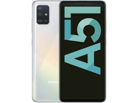 Móvil - Samsung Galaxy A51, Blanco, 128 GB, 4 GB RAM, 6.5