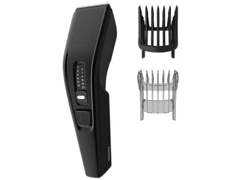 Cortapelos - Philips Hairclipper series 3000 HC3510/15, 13 longitudes  Cuchillas autoafilables, Negro