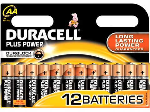Pilas AA - Duracell PLUS POWER, Alcalina, 1.5V, Pack de 12