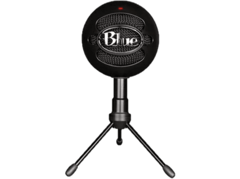 Micrófono - Blue Snowball Black Ice, USB, Para PC, Mac y PS4, Negro