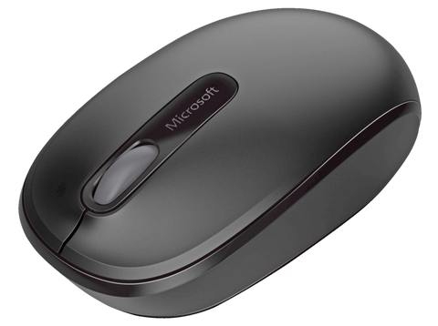 Ratón inalámbrico - Microsoft Wireless Mobile Mouse 1850, negro, nano transceptor plug-and-go