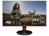 Monitor gaming - AOC G2590Px, 24.5, Full HD, 400 cd/m², FreeSync, TN, 1ms, Negro