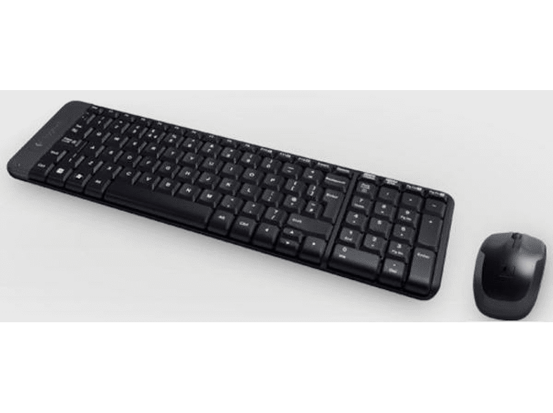 Pack Teclado + Ratón - Logitech Wireless Desktop MK220, Inalámbrico, Bluetooth, USB, 10 metros, Negro