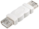 Vivanco High-grade USB 2.0 compatible adapter USB A USB A Blanco adaptador de cable