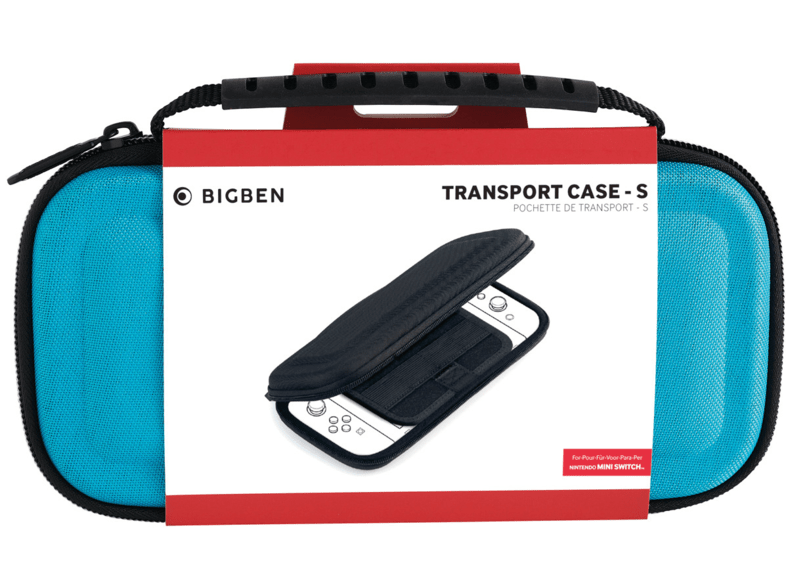 Funda - Bigben Transport Case-S, Para Nintendo Switch Lite, Azul