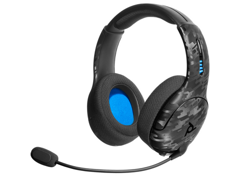 Auriculares gaming - PDP LVL50 Wireless, Para PS4, Bluetooth, Micrófono, 50 mm, Camuflaje negro