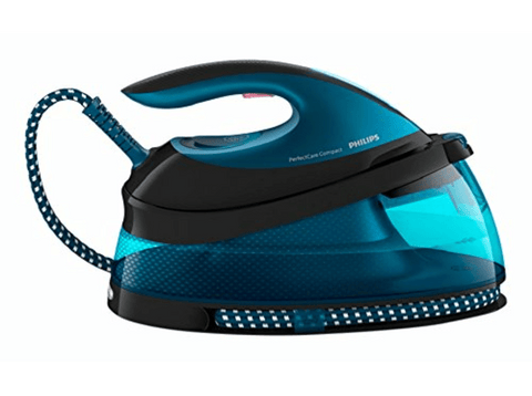 Centro de planchado - PHILIPS GC7833/80, 2400 W, 6 bar, 1.5 L, 350 g/min, Suela SteamGlide Plus