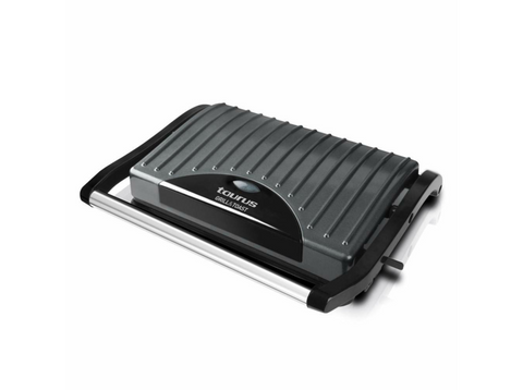 Grill - Taurus Grill and Toast, 700 W, Placas antiadherentes, Tapa basculante, Asa toque frío