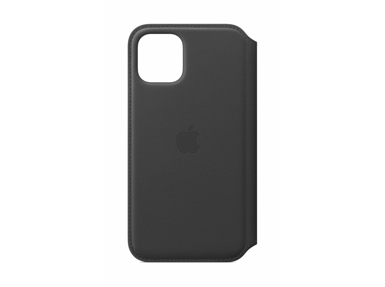 Funda - Apple Leather Folio, Para el iPhone 11 Pro Max, Con tapa y tacto suave, Negro