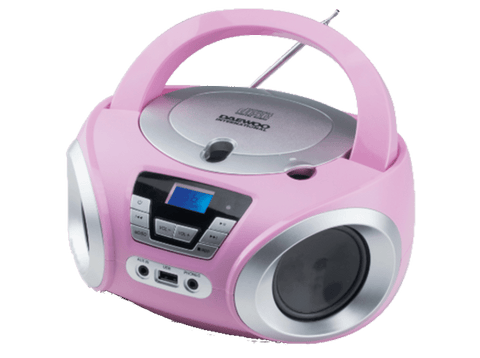 Radio CD - Daewoo DBU-050PK, Puerto USB, Sintonizador digital, Reproductor MP3, Rosa