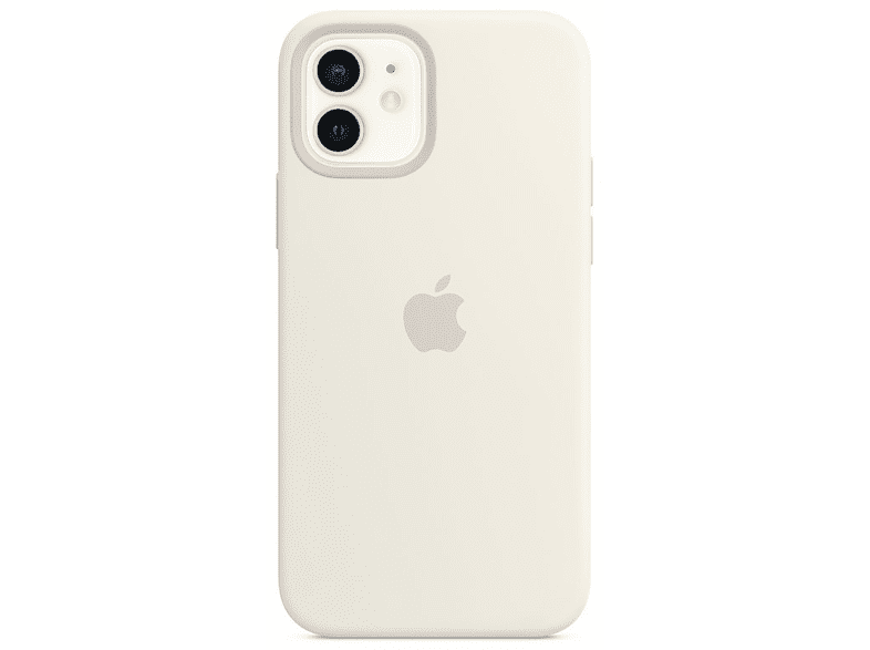 Funda - Apple funda silicona con MagSafe para el iPhone 12 y el iPhone 12 Pro, Blanco