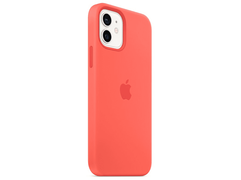 Funda - Apple funda silicona con MagSafe para el iPhone 12 y el iPhone 12 Pro, Pomelo rosa