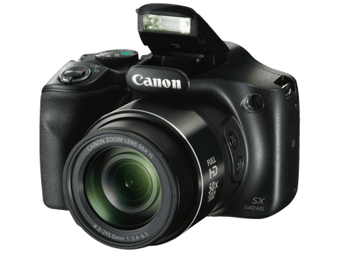 Cámara Bridge - Canon PowerShot SX540 HS, Sensor CMOS, 20.3 MP, Full HD, Wi-Fi, NFC, Negro