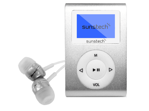 Reproductor MP3 - Sunstech Dedalo III, 8GB, Radio FM, Gris