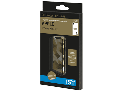 Protector Pantalla - ISY IPG-5013-2.5D, Para Apple iPhone XR, iPhone 11, Cristal templado, 9H, Transparente