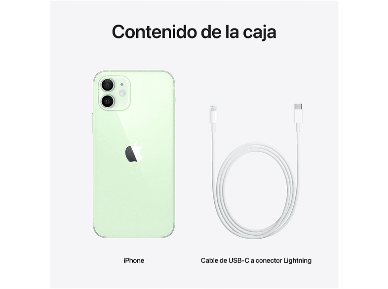 Apple iPhone 12, Verde, 64 GB, 5G, 6.1 OLED Super Retina XDR, Chip A14 Bionic, iOS