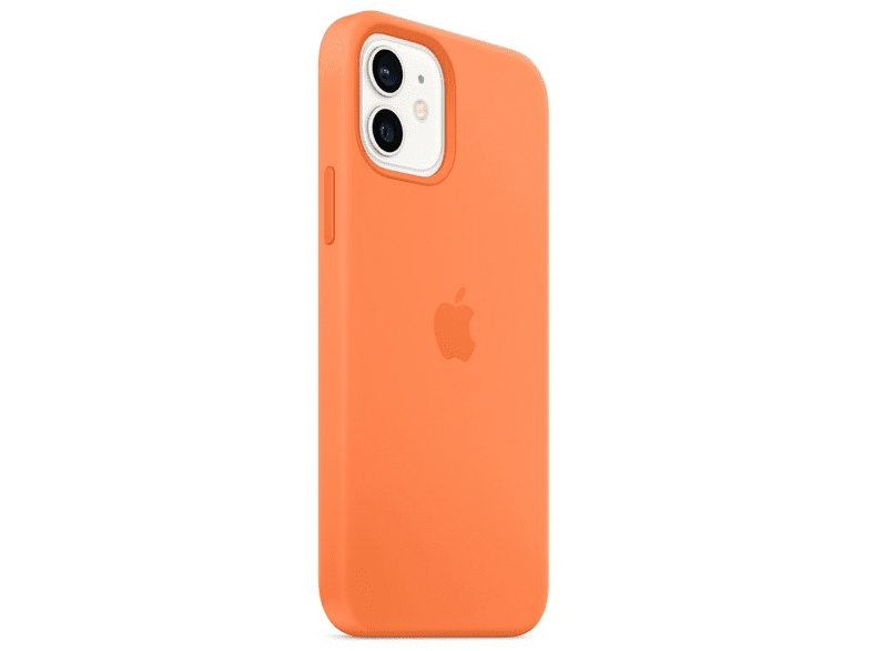 Funda - Apple funda silicona con MagSafe para el iPhone 12 y el iPhone 12 Pro, Naranja kumquat