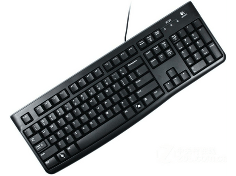 Teclado PC - Logitech K120, USB, ultrafino, color negro