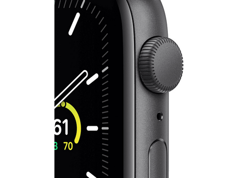 Apple Watch SE, GPS , 44 mm, Caja de aluminio en gris espacial, Correa negra
