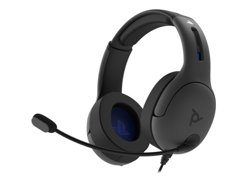 Auriculares gaming - PDP LVL50, Para PS4, Con Cable, Micrófono, 50 mm, Gris