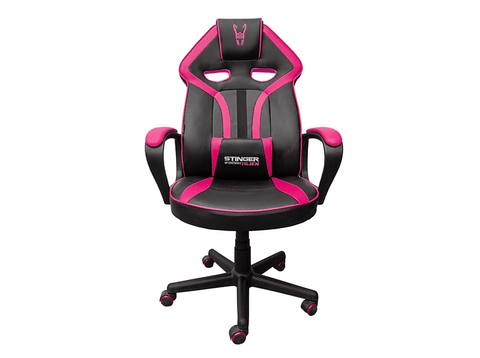 Silla gaming - Woxter Stinger Station Alien Pink, Altura ajustable, Reposabrazos, Rosa