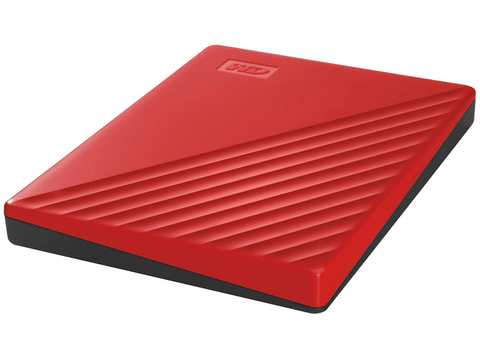 Disco duro externo 2 TB - WD My Passport WDBYVG0020BRD, Para Windows, USB 3.2, WD Discovery, Rojo