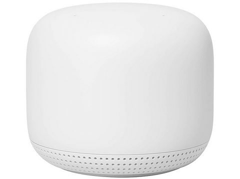 Router - Google Mesh Nest WiFi Point, Punto WiFi, Altavoz, Micrófono, Asistente de Google, Bluetooth, Blanco