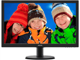 Monitor - Philips 243V5LHAB, 23.6, Full HD, HDMI y Altavoces estéreo