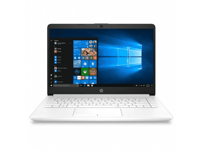 Portátil -  HP 14-df0003ns, 14 Full HD, Intel® Celeron® N4000, 4GB RAM, 64GB eMMC, Windows 10 Home, Blanco