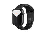 Apple Watch Nike Series 5, Chip W3, 44 mm, GPS, Caja aluminio plata, Correa Nike antracita y negro