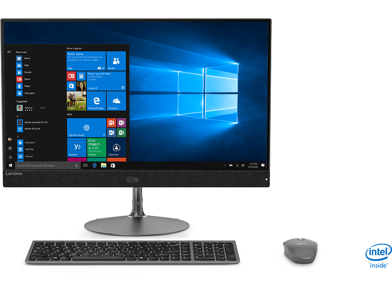 All in One - Lenovo Ideacentre 730S-24IKB,23.8 FHD,Intel® Core™ i5-8250U, 8 GB RAM, 256 GB SSD, W10H, Gris