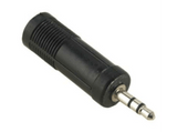 Conector - Hama 39122388, Adaptador de audio Jack 3.5 mm a 6.3 mm
