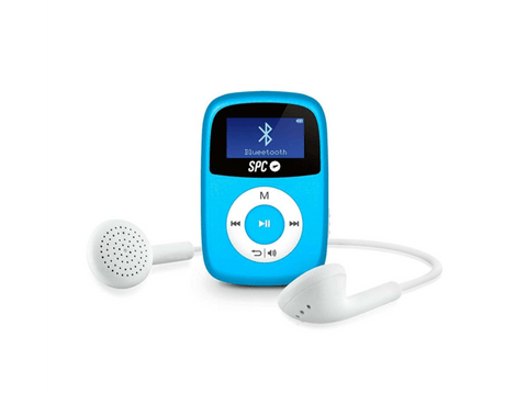 Reproductor MP3 - SPC Bluebird, 8GB, Bluetooth, Radio FM, Azul