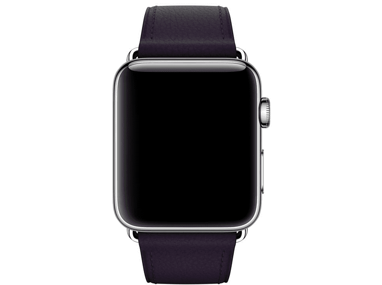 Correa para Apple Watch - Apple MQV42ZM/A, Berenjena, Cuero