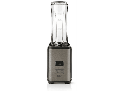 Batidora de vaso - Black+Decker BXJBA350E, 350 W, 600 ml, Acero Inoxidable, Gris