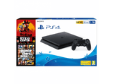 Consola - Sony PS4, 1 TB, Negro + Red Dead Redemption 2 + GTA V (Premium Edition)