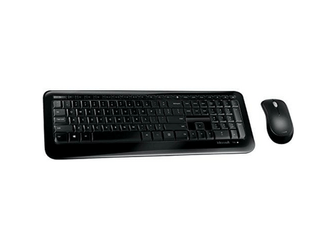 Pack Teclado + Ratón - Microsoft Wireless Desktop 850, RF inalámbrico, USB, Negro