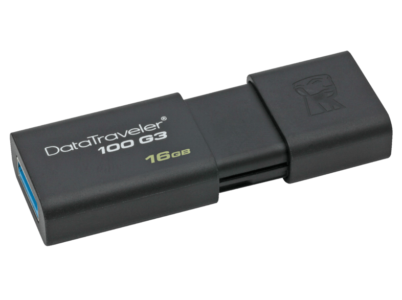 Memoria USB 64 GB - Kingston DataTraveler 100 G3, Unidad flash USB, 3.0,  Negro