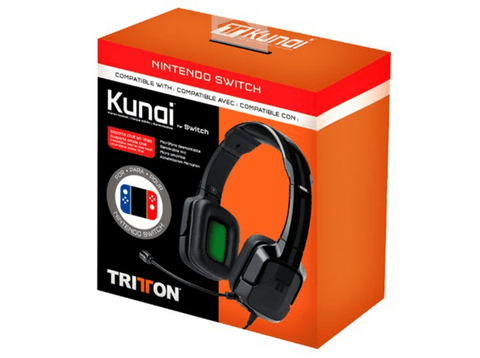 Auriculares gaming - Tritton Kunai Stereo Headset, Micrófono, 3.5 mm, Para nintendo Switch, Negro