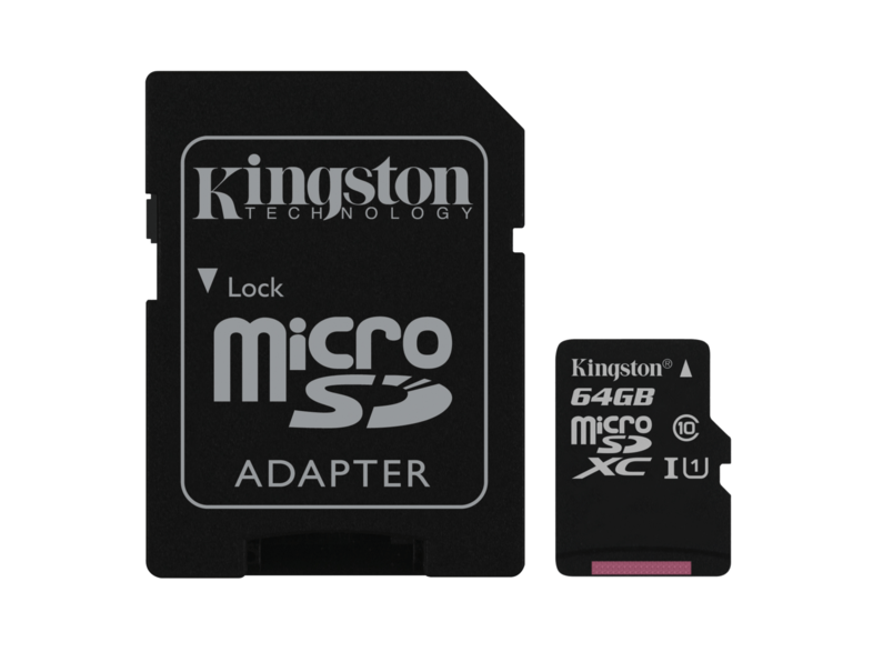 Tarjeta MicroSD de 64GB - Kingston Technology Canvas Select, UHS-I, Clase 10 v