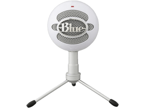 Micrófono - Blue Snowball Ice, USB, Para PC, Mac y PS4, Blanco