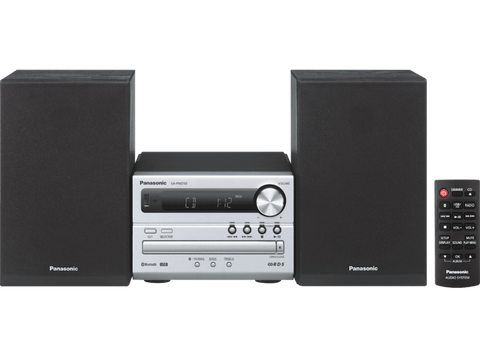 Microcadena - Panasonic SC-PM250 EC-S, 20 W, Bluetooth, USB, CD, Radio FM, Plata