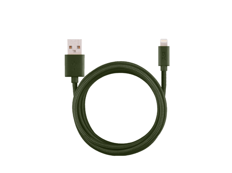 Cable USB - ISY IFC-1800-GN-L, Lightning, Para Apple